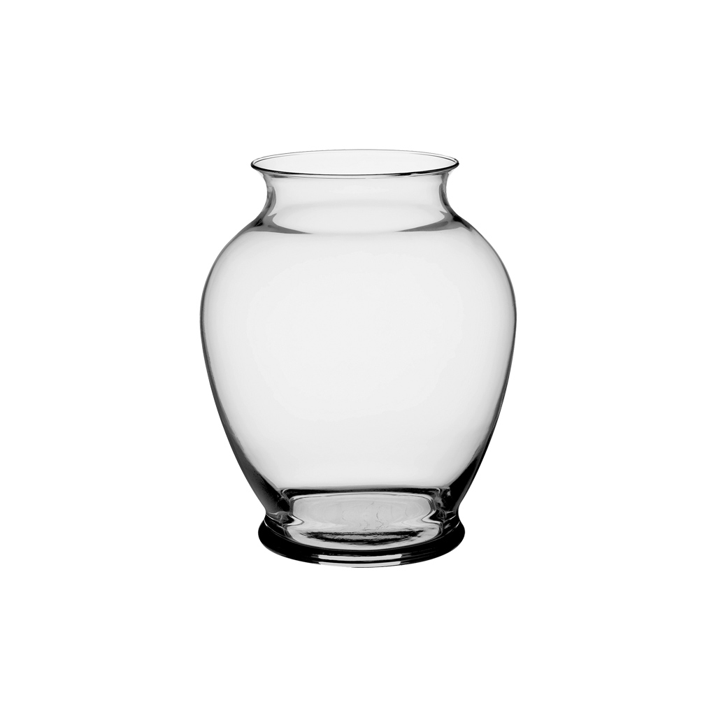 "Ginger Vase 7-1/4"" C903 Clear"