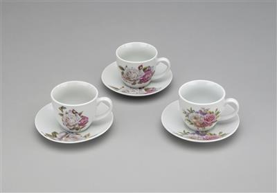 Tea Cups/Saucers Set/6
