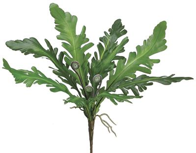 "Ruffle Fern Bush 12"" Green"
