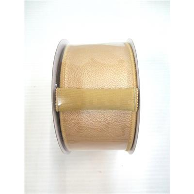 #40 Faux Leather Ribb. 10yd Gold